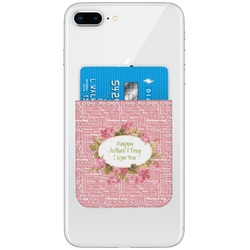 Mother's Day Genuine Leather Adhesive Phone Wallet