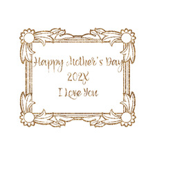 """Mother's Day Glitter Iron On Transfer - Up to 15""""x15"""""""