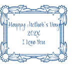 Mother's Day Glitter Sticker Decal - Custom Sized