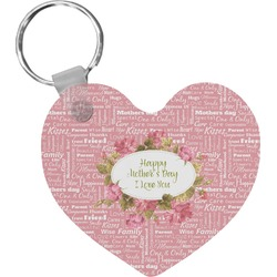 Mother's Day Heart Keychain