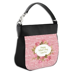 Mother's Day Hobo Purse w/ Genuine Leather Trim