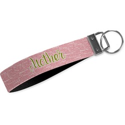 Mother's Day Wristlet Webbing Keychain Fob