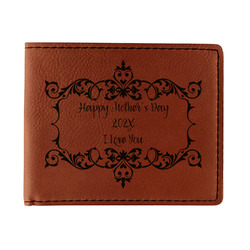 Mother's Day Leatherette Bifold Wallet - Double Sided