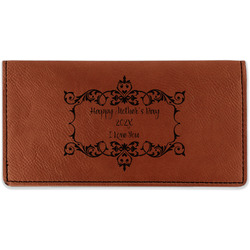 Mother's Day Leatherette Checkbook Holder