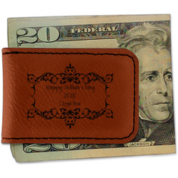 Mother's Day Leatherette Magnetic Money Clip