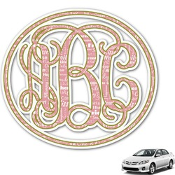Mother's Day Monogram Car Decal