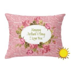 Mother's Day Outdoor Throw Pillow (Rectangular)