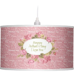 Mother's Day Drum Pendant Lamp Linen
