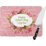 Mother's Day Rectangular Glass Cutting Board