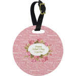 Mother's Day Round Luggage Tag