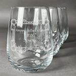 Mother's Day Stemless Wine Glasses (Set of 4)