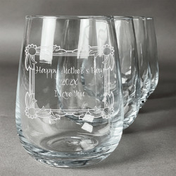 Mother's Day Wine Glasses (Stemless- Set of 4)