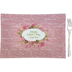 Mother's Day Rectangular Glass Appetizer / Dessert Plate - Single or Set