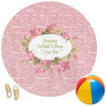 Mother's Day Round Beach Towel