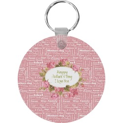 Mother's Day Round Keychain