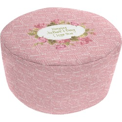 Mother's Day Round Pouf Ottoman