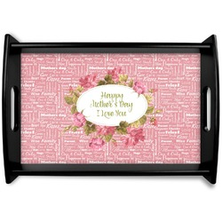 Mother's Day Black Wooden Tray