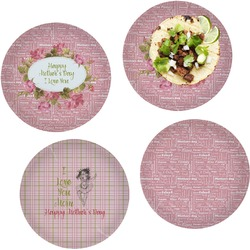 Mother's Day Set of 4 Lunch / Dinner Plates (Glass)