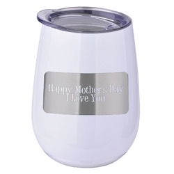 Mother's Day Stemless Wine Tumbler - 5 Color Choices - Stainless Steel