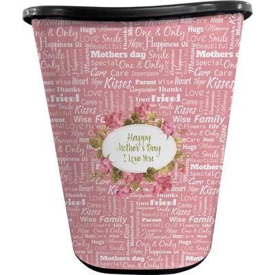 Mother's Day Waste Basket - Single Sided (Black)