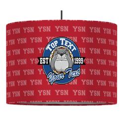 School Mascot Drum Pendant Lamp (Personalized)