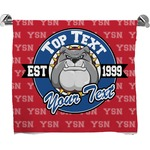 School Mascot Full Print Bath Towel (Personalized)