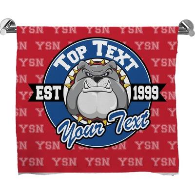 School Mascot Bath Towel (Personalized)