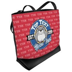 School Mascot Beach Tote Bag (Personalized)