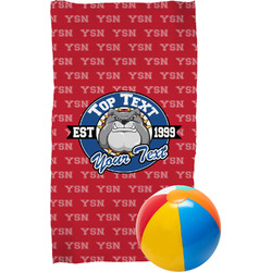School Mascot Beach Towel (Personalized)