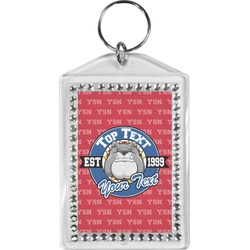 School Mascot Bling Keychain (Personalized)