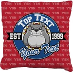 School Mascot Faux-Linen Throw Pillow (Personalized)