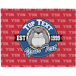 School Mascot Woven Fabric Placemat - Twill w/ Name or Text