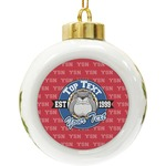 School Mascot Ceramic Ball Ornament (Personalized)