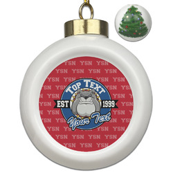 School Mascot Ceramic Ball Ornament - Christmas Tree (Personalized)