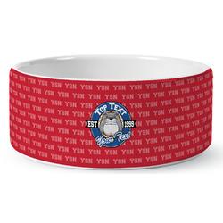 School Mascot Ceramic Dog Bowl (Personalized)