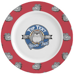 School Mascot Ceramic Dinner Plates (Set of 4) (Personalized)
