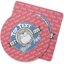 School Mascot Rubber Backed Coaster (Personalized)