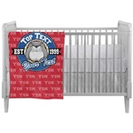 School Mascot Crib Comforter / Quilt (Personalized)