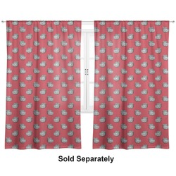 "School Mascot Curtains - 20""x63"" Panels - Unlined (2 Panels Per Set) (Personalized)"