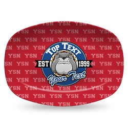 School Mascot Plastic Platter - Microwave & Oven Safe Composite Polymer (Personalized)