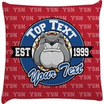 School Mascot Decorative Pillow Case (Personalized)