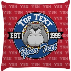 School Mascot Decorative Pillow Case (Personalized)