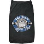School Mascot Black Pet Shirt (Personalized)