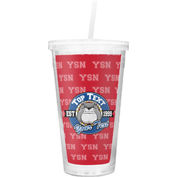 School Mascot Double Wall Tumbler with Straw (Personalized)