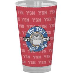 School Mascot Drinking / Pint Glass (Personalized)