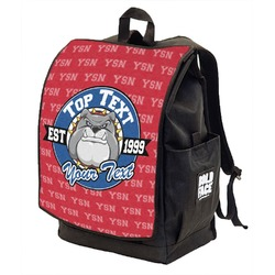 School Mascot Backpack w/ Front Flap  (Personalized)