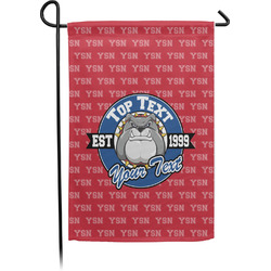School Mascot Small Garden Flag - Single Sided w/ Name or Text