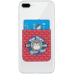 School Mascot Genuine Leather Adhesive Phone Wallet (Personalized)