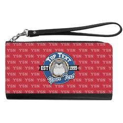 School Mascot Genuine Leather Smartphone Wrist Wallet (Personalized)
