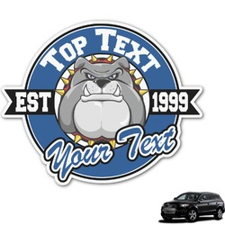 School Mascot Graphic Car Decal (Personalized)